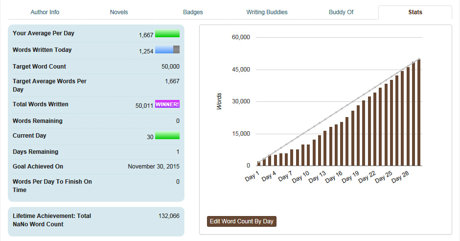 NaNoWriMo – Catching up with you're Behind